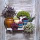 Картины цветов ручной работы. Ярмарка Мастеров - ручная работа. Купить Панно из сухих цветов. Handmade. Белый, подарок, дерево
