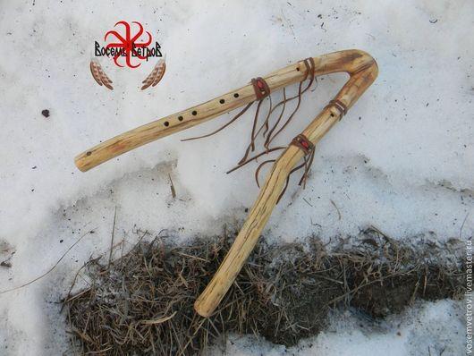 Духовые инструменты ручной работы. Ярмарка Мастеров - ручная работа. Купить двойная индейская флейта из дерева. Handmade. Пимак, дерево