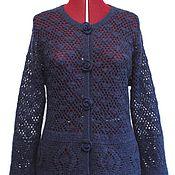 Одежда handmade. Livemaster - original item The jacket`s openwork sweater of mohair Madeline Handmade.. Handmade.
