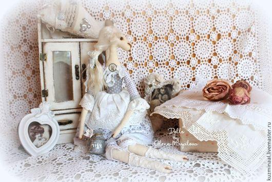 Игрушки животные, ручной работы. Ярмарка Мастеров - ручная работа. Купить Символ года-овечка HELEN. Handmade. Серый, овечка