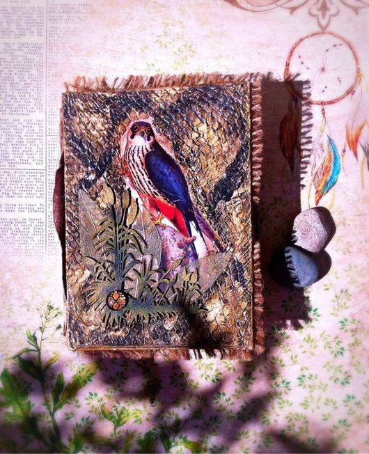"""Блокноты ручной работы. Ярмарка Мастеров - ручная работа. Купить Блокнот ручной работы """" Nature"""". Handmade. змеиная кожа"""
