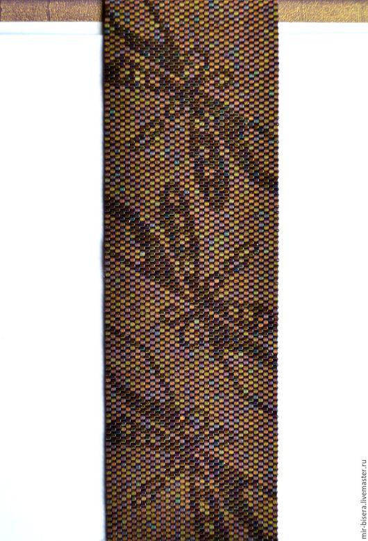 """Браслеты ручной работы. Ярмарка Мастеров - ручная работа. Купить Браслет из бисера """"Сверкающие стрекозки"""". Handmade. Коричневый, нарядное украшение"""