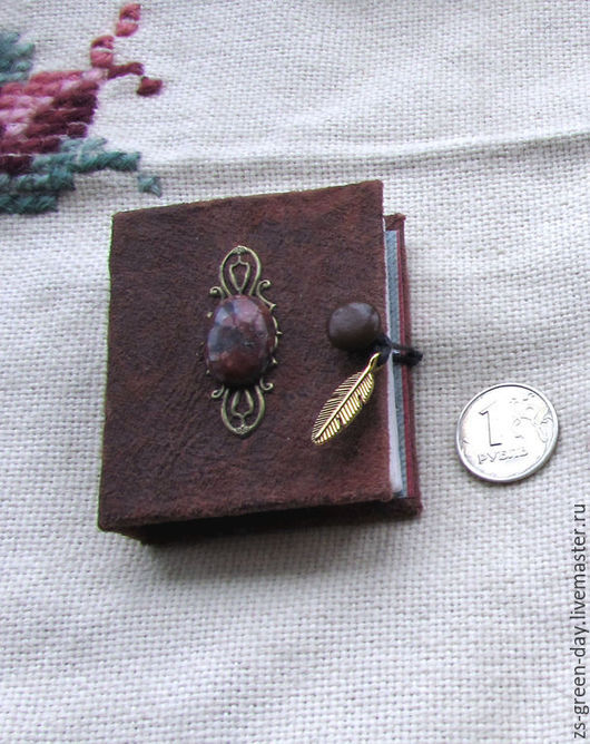 Блокноты ручной работы. Ярмарка Мастеров - ручная работа. Купить Секретная книга с яшмой. Handmade. Коричневый, скрап бумага