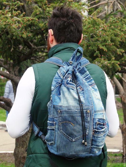 Рюкзаки ручной работы. Ярмарка Мастеров - ручная работа. Купить Рюкзак джинсовый Boho. Handmade. Рюкзак, рюкзак для мальчика