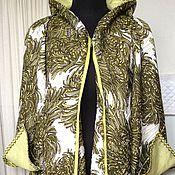 Одежда ручной работы. Ярмарка Мастеров - ручная работа Летнее пальто- трансформер Хризантемы. Handmade.