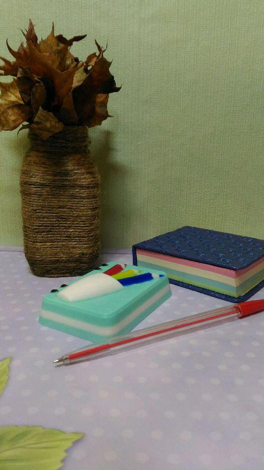 """Мыло ручной работы. Ярмарка Мастеров - ручная работа. Купить Мыло """" Блокнот с карандашами"""".. Handmade. Мыло ручной работы"""
