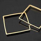 Материалы для творчества handmade. Livemaster - original item Connector square 15 mm gold plated th. Korea (art. 3328). Handmade.