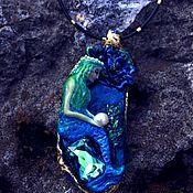 Кулон Water nymph с кристаллами Swarovski bermuda blue