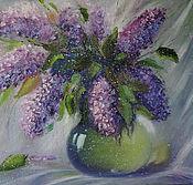 """Картины и панно handmade. Livemaster - original item """"Sweet lilac"""" oil painting. Handmade."""