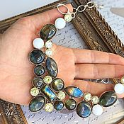 Украшения handmade. Livemaster - original item Necklace with Labradorite and Citrine. Handmade.