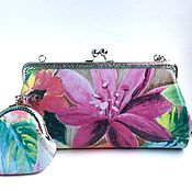 Сумки и аксессуары handmade. Livemaster - original item Leather handbag with clasp Tropical breeze. Handmade.
