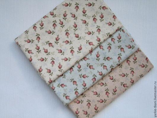 """Шитье ручной работы. Ярмарка Мастеров - ручная работа. Купить Корейский хлопок """"Бутончики роз"""" (арт.3731). Handmade. Разноцветный"""