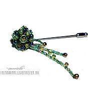 Brooches handmade. Livemaster - original item green brooch. Handmade.
