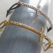 Украшения handmade. Livemaster - original item Leather bracelet for women Cross. Handmade.