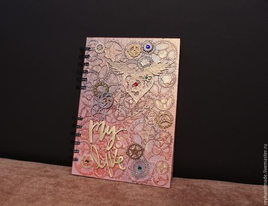 """Блокноты ручной работы. Ярмарка Мастеров - ручная работа. Купить Блокнот """"My Live"""". Handmade. Комбинированный, блокнот для девушки, чипборд"""