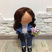 Куклы и игрушки ручной работы. Ярмарка Мастеров - ручная работа Текстильная интерьерная кукла.. Handmade.