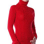 """Одежда ручной работы. Ярмарка Мастеров - ручная работа Свитер """"Зимний шик"""" красный. Handmade."""
