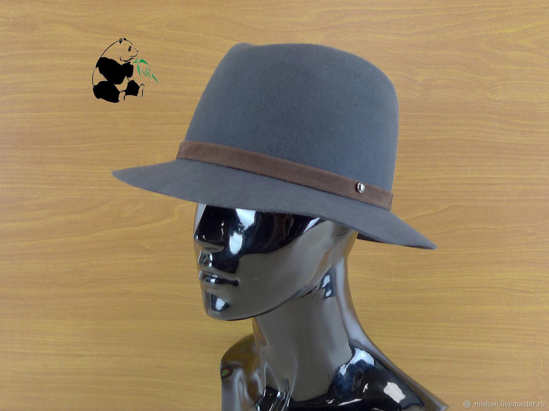 Elegant ladies felt hat Fedora. Color gray and two more colors, Hats1, Ekaterinburg,  Фото №1