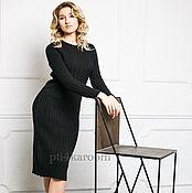 Одежда ручной работы. Ярмарка Мастеров - ручная работа Черное шерстяное платье. Handmade.