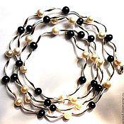 Украшения handmade. Livemaster - original item Beads and earrings - real pearls and silver. Handmade.