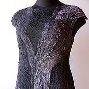 Одежда ручной работы. Ярмарка Мастеров - ручная работа Валяное платье-сарафан Антрацит. Handmade.