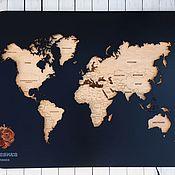 Сувениры и подарки handmade. Livemaster - original item World map with backlight L. Handmade.