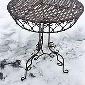 Для дома и интерьера ручной работы. Ярмарка Мастеров - ручная работа Столик круглый металлический. Handmade.