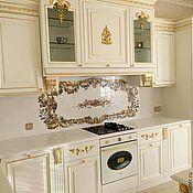 Дизайн и реклама handmade. Livemaster - original item Painted tiles for kitchen Apron Rococo. Handmade.
