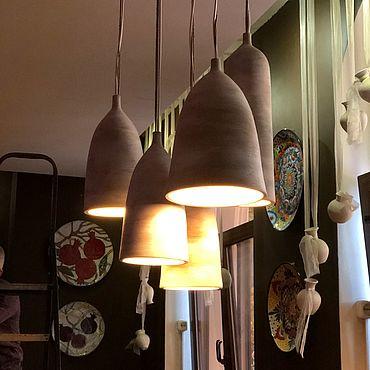 Освещение ручной работы. Ярмарка Мастеров - ручная работа Плафоны из глины. Handmade.