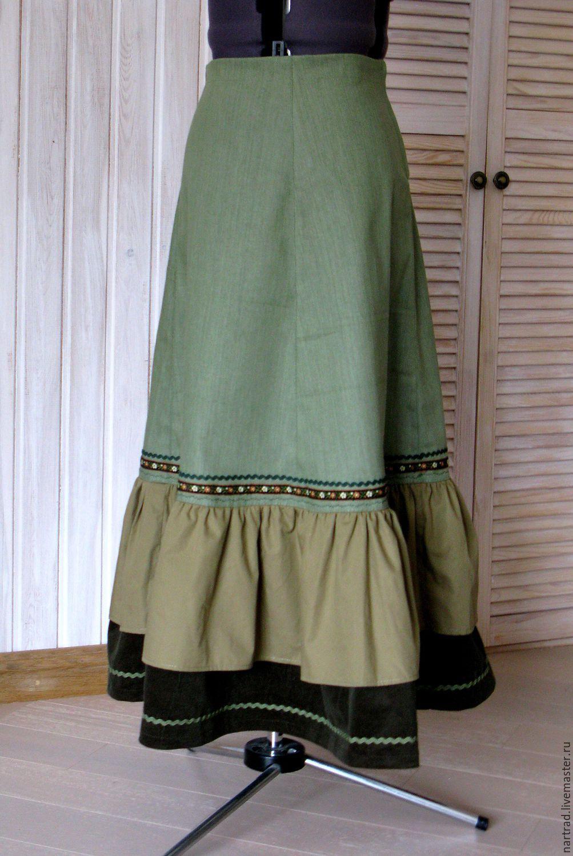 Длинная летняя юбка своими руками - Ручная работа Как украсить длинную юбку своими руками