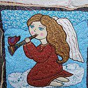 """Для дома и интерьера ручной работы. Ярмарка Мастеров - ручная работа наволочки """"Ангел с кошкой"""" и """" Ангел с дудочкой"""". Handmade."""