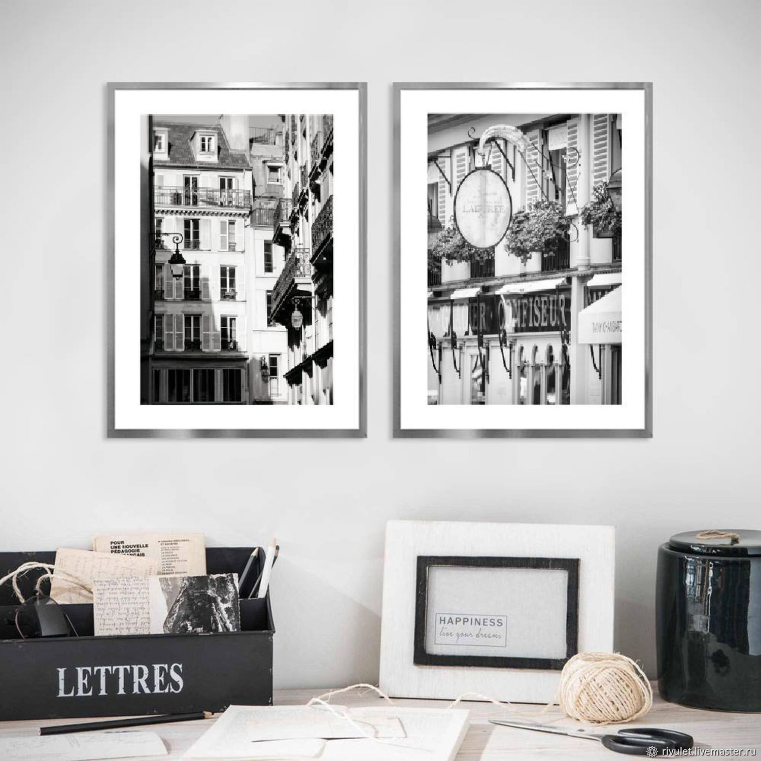 Paris photo Black and white paintings in the living room Architecture Posters on the wall, Fine art photographs, Moscow,  Фото №1