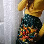 """Композиции ручной работы. Ярмарка Мастеров - ручная работа Сухоцветы в ящике """"Утро в саду """". Handmade."""