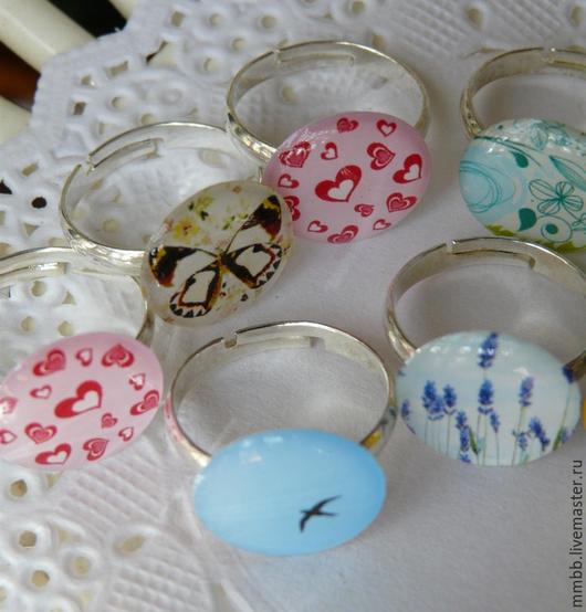 Кольца ручной работы. Ярмарка Мастеров - ручная работа. Купить Кольца Абстракция, Птица в небе, Цветок, Смайл. Handmade.