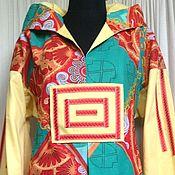 Одежда ручной работы. Ярмарка Мастеров - ручная работа Платье из 100% хлопка Солнечный берег. Handmade.