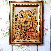 Подарки к праздникам ручной работы. Ярмарка Мастеров - ручная работа Собака друг человека - точечная роспись. Handmade.