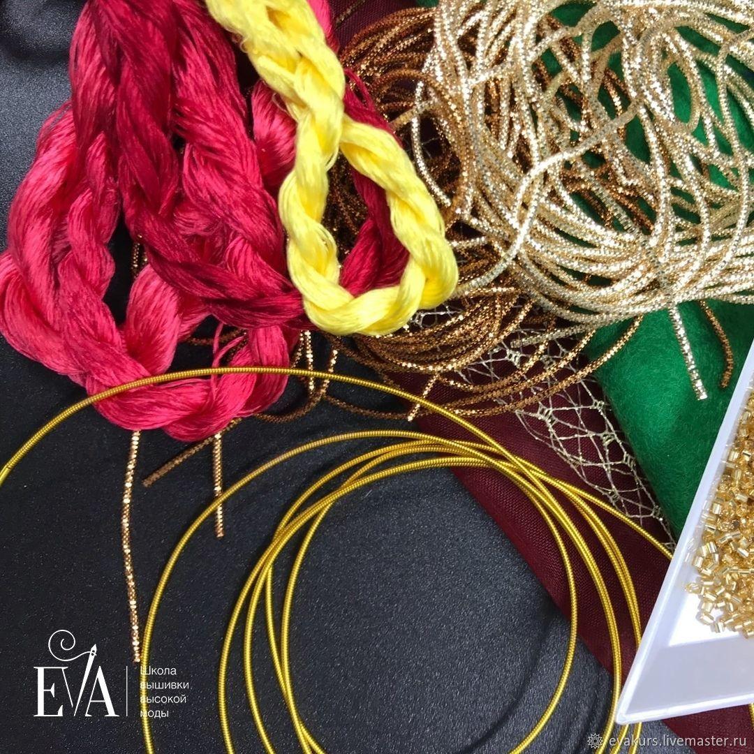Коробочка материалов для марафона «Гранат», Аксессуары для вышивки, Москва,  Фото №1