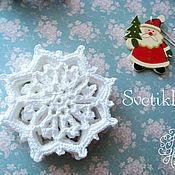Подарки к праздникам ручной работы. Ярмарка Мастеров - ручная работа Новогодние снежинки. Handmade.