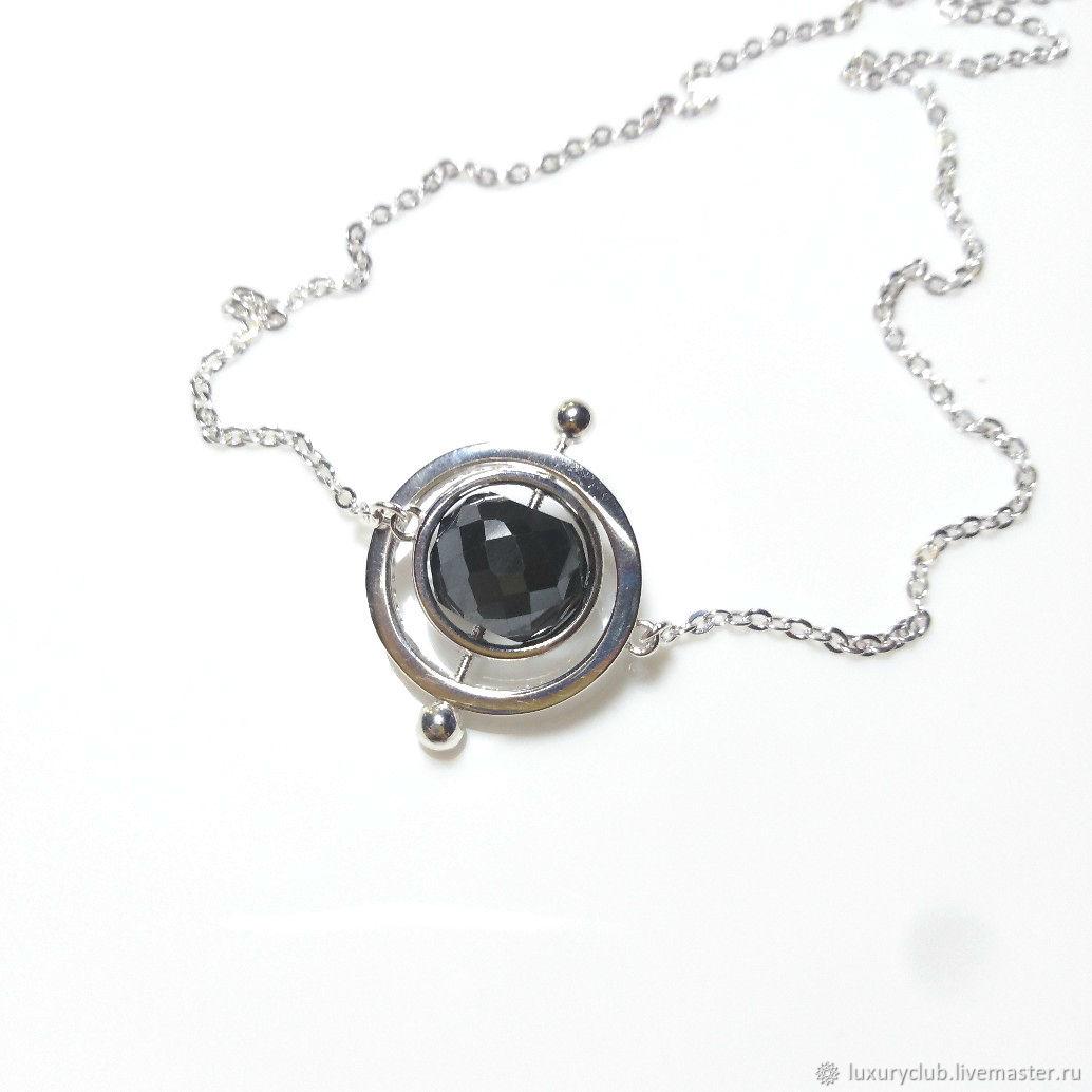 Pendant transformer Orbita black diamond buy, Necklace, Tolyatti,  Фото №1