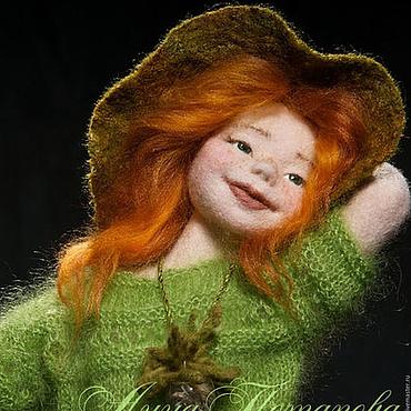 Куклы и игрушки ручной работы. Ярмарка Мастеров - ручная работа Марта. Авторская войлочная кукла. Handmade.
