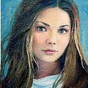 Картины и панно ручной работы. Ярмарка Мастеров - ручная работа Портрет по фотографии картина маслом. Handmade.