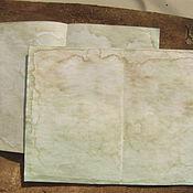 Бумага ручной работы. Ярмарка Мастеров - ручная работа Бумага винтажная. Бумага для блокнота. Состаренная бумага. Сшитый блок. Handmade.