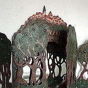 """Для дома и интерьера ручной работы. Ярмарка Мастеров - ручная работа зеркало """"Волшебный лес"""". Handmade."""