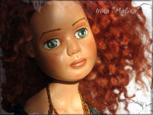 Коллекционные куклы ручной работы. Ярмарка Мастеров - ручная работа. Купить Будуарная-Волшебница. Handmade. Зеленый, Паперклей, краски