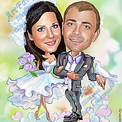 Картины и панно handmade. Livemaster - original item Cartoon wedding (digital). Handmade.