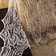 Пуховый палантин, козий пух, ажурный палантин, подарок 2015