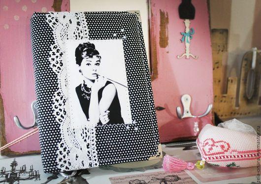 """Блокноты ручной работы. Ярмарка Мастеров - ручная работа. Купить Блокнот """"Одри"""". Handmade. Черный, блокнот ручной работы"""