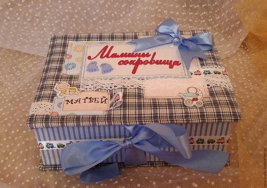 """Подарки для новорожденных, ручной работы. Ярмарка Мастеров - ручная работа. Купить шкатулка """" Мамины сокровища"""". Handmade. Комбинированный, малышам"""