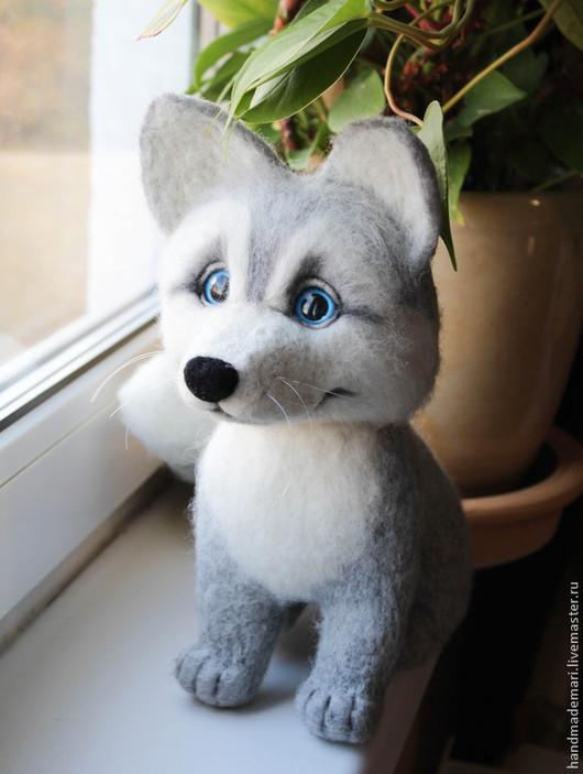 Игрушки животные, ручной работы. Ярмарка Мастеров - ручная работа. Купить Волчонок. Handmade. Серый, волчонок, игрушка волк