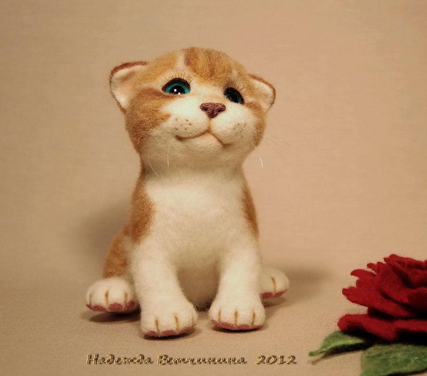 Валяние игрушек котенок
